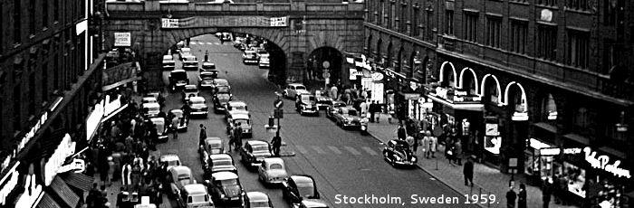 Stockholm, Sweden 1959.
