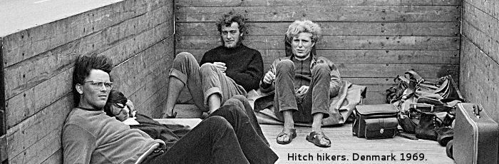 Hitch hikers. Denmark 1969.