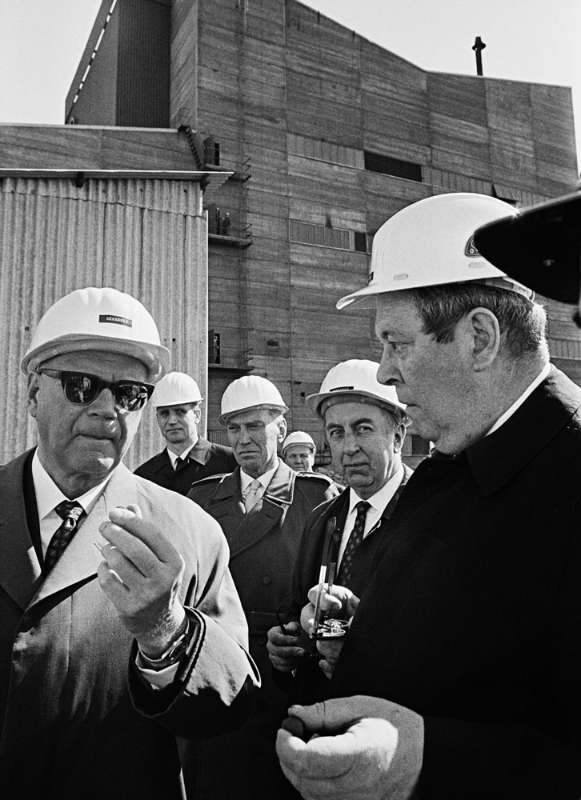 President Kekkonen at a steel plant