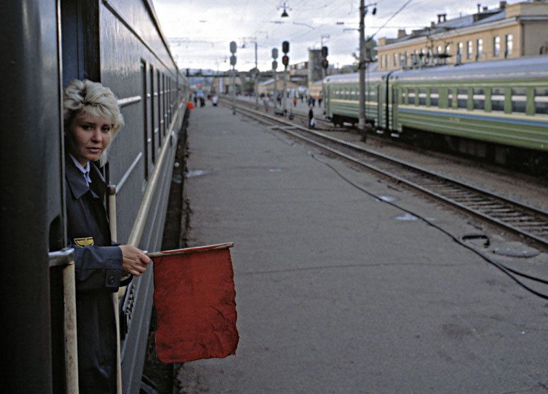 Trans-Siberian train ready to go