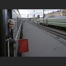 Trans-Siberian train ready to go