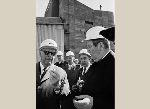 President Kekkonen at a steel plant